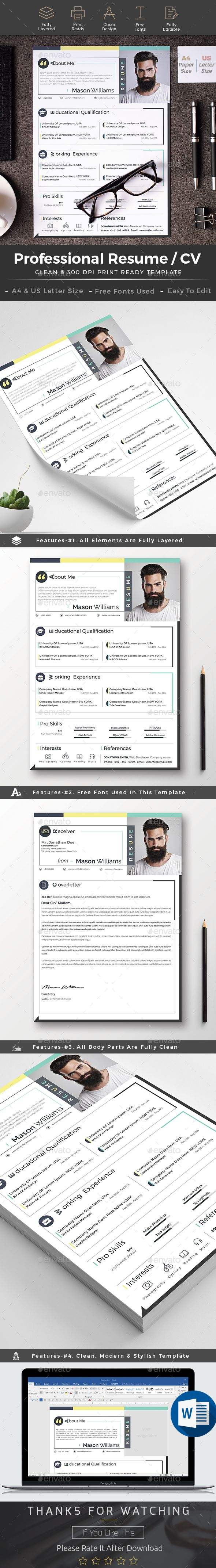 Resume cv word | Letter size, Template and Resume cv