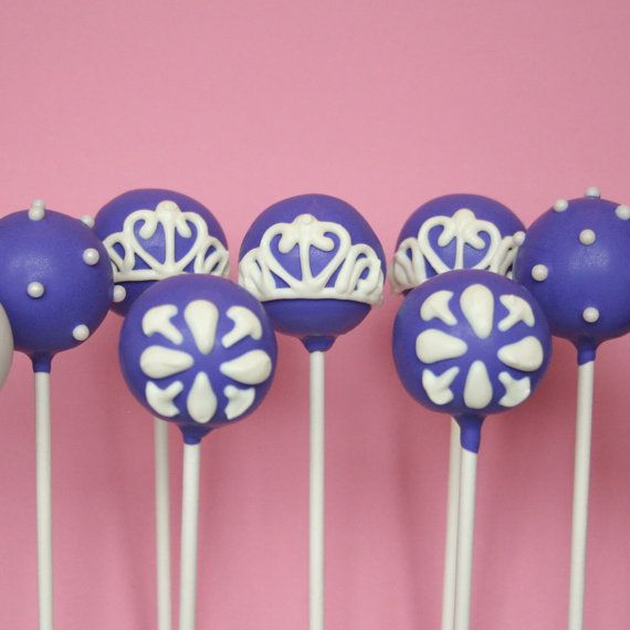Sofia the First inspired Cake Pops