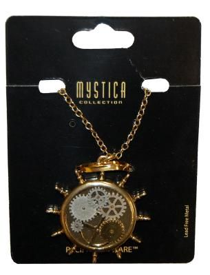 Steampunk Kinetic Steer Necklace Costume Accessory *FREE SHIPPING*