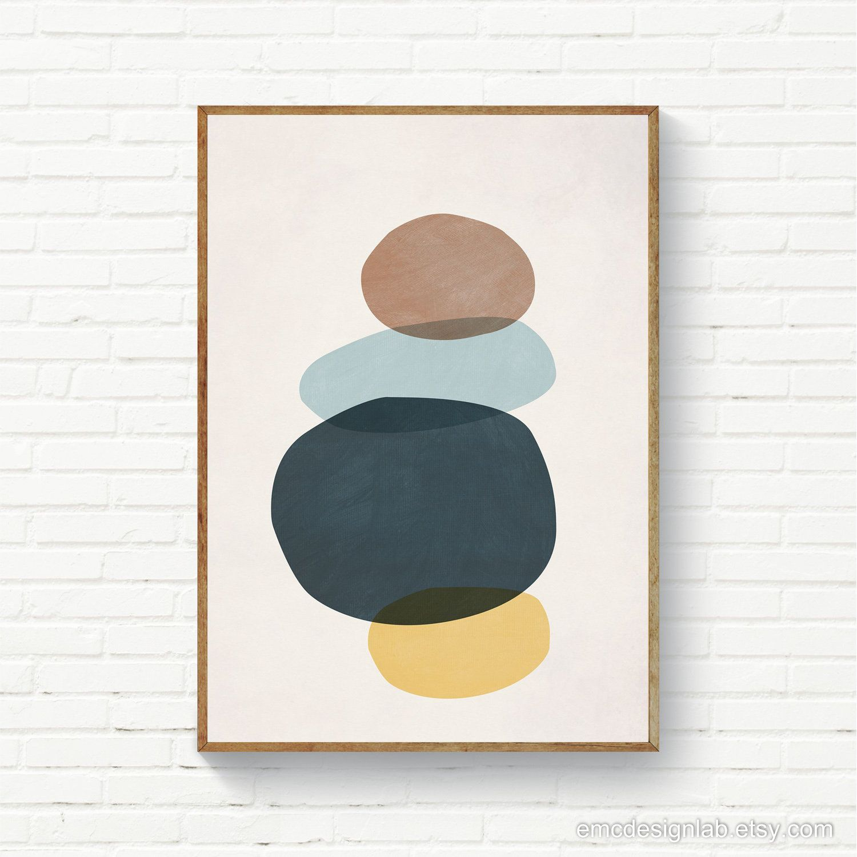 Abstract Stones Minimalist Joga Art Scandinavian Abstract Etsy Scandi Art Art Modern Art Prints
