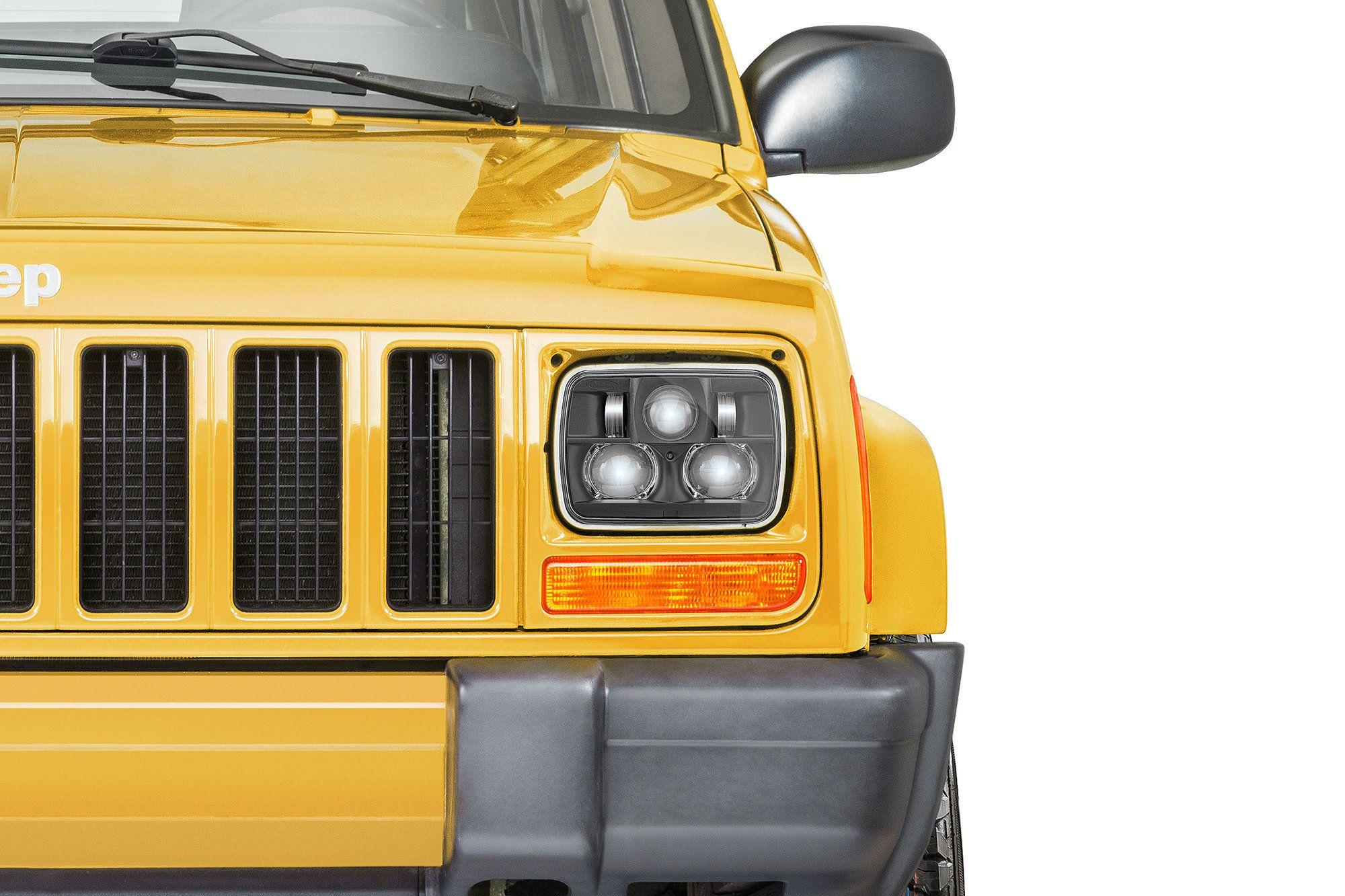 Quadratec Premium Led Projector Headlights For 84 01 Jeep