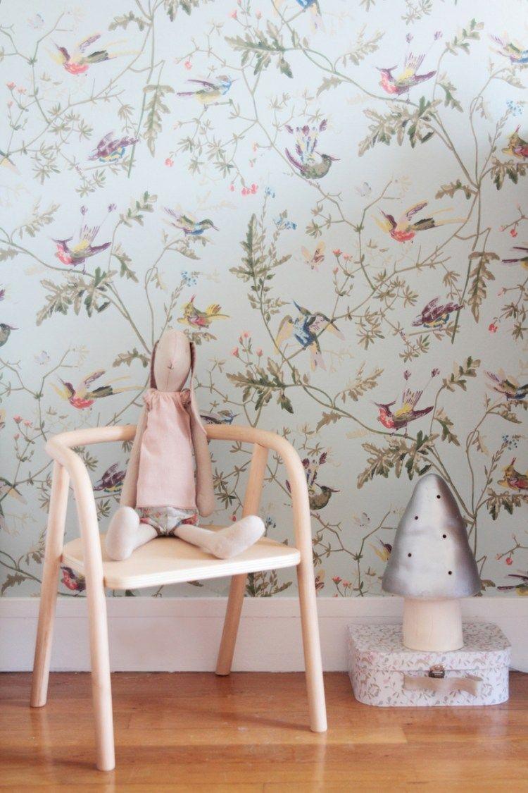 chambre fille vintage retro romantique rose vert menthe - Chambre Vintage Rose