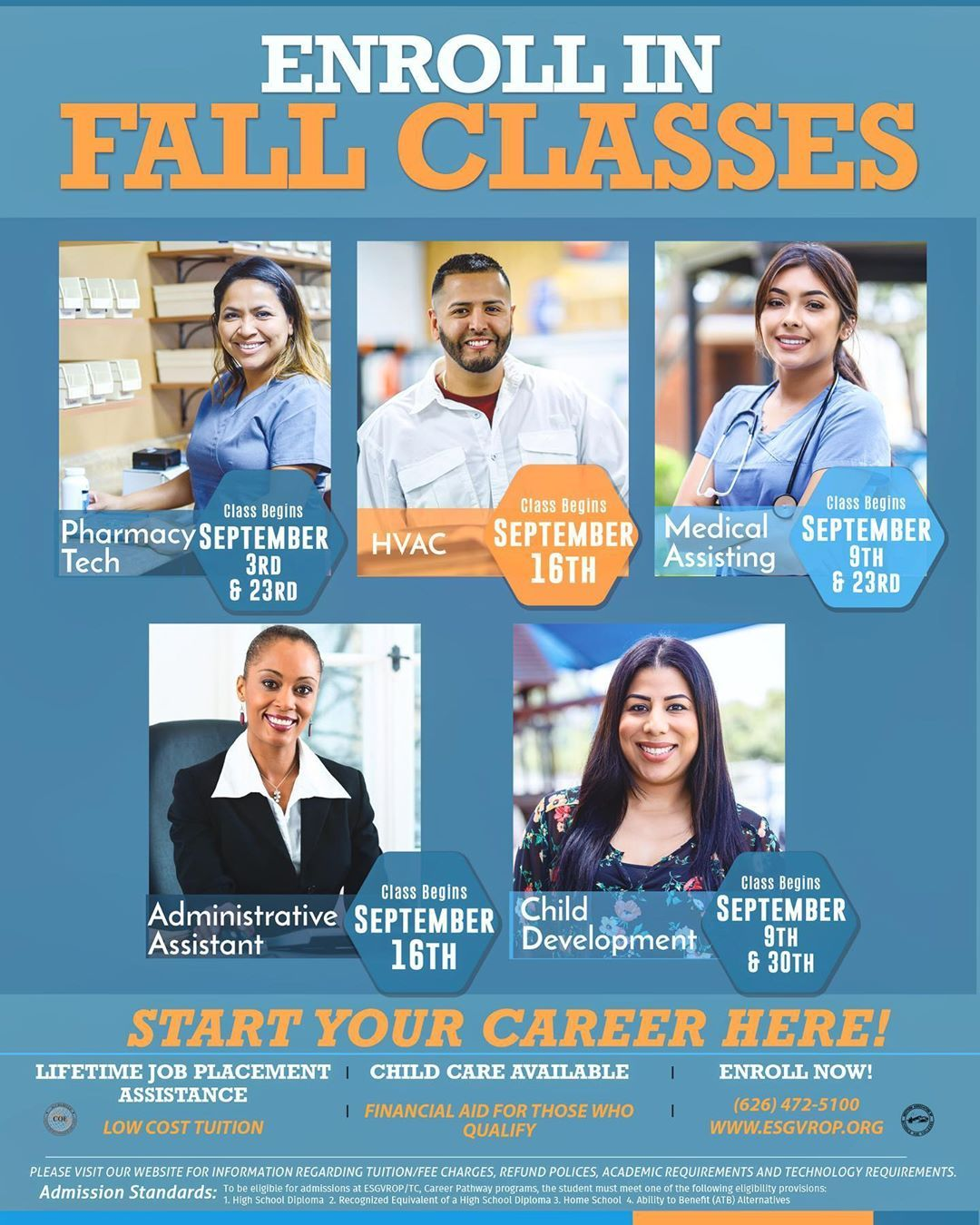 Ready for a new career ? Sign up for these September