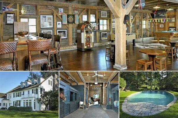 Game room ideas, concrete floor, barn doors, billiards table, Western bar  Trulia.com