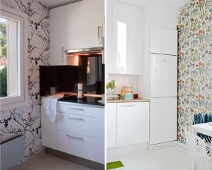 Utiliza papel pintado y cristal lacado para renovar la Renovar dormitorio sin cambiar muebles