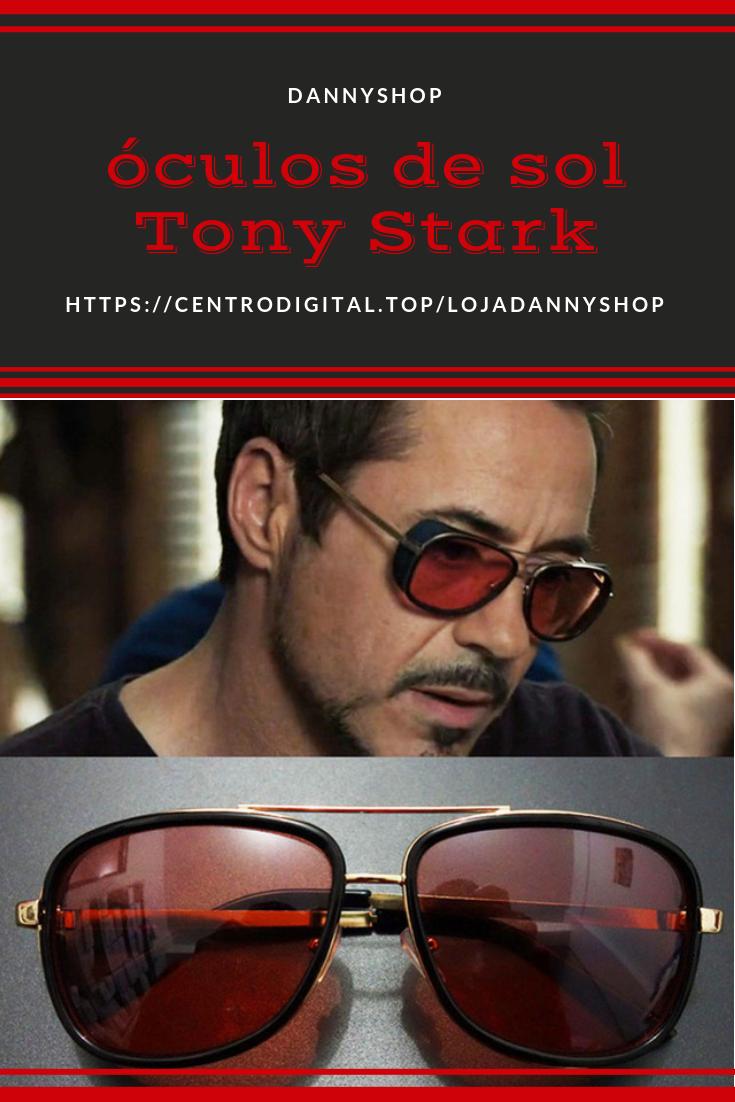 6d1526f37 Óculos de sol Tony Stark, modelo usado pelo personagem no filme homem de  ferro 3
