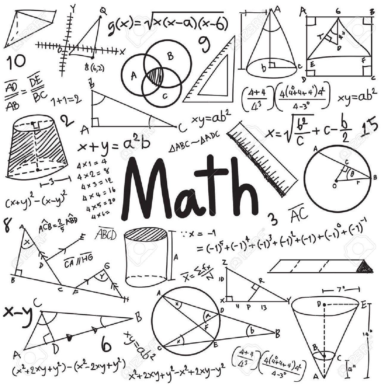 La Theorie Mathematique Et Mathematique Equation De Formule Doodle Ecriture Icone Dans Le Fond Blanc Isole Avec Le Modele Tire Par La Main Utilisee Pour L Ensei Cahier D Ecole Couvertures De Cahier