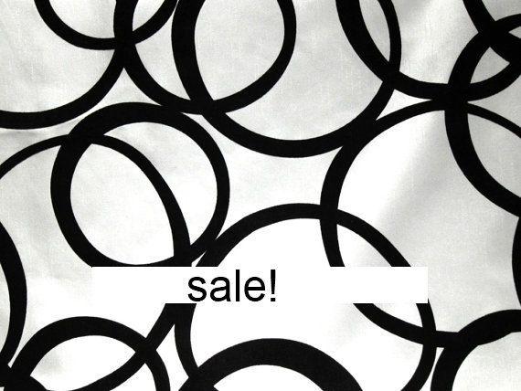 Upholstery Fabric   Black and White Geometric by greenapplefabrics, $19.00