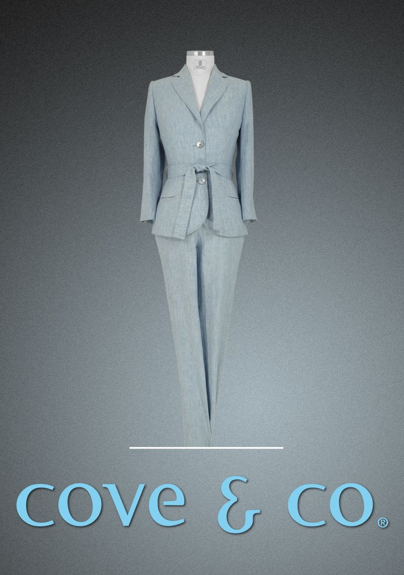 Tailor-made pant suit made of 270g linen by cove & co ...