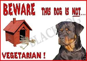 Rottweiler Signs For Gates Dog Symbol Sign Guard Beware Sku K