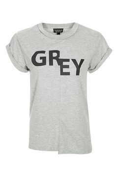 cde19b605 Topshop Reclaim Grey Spliced Motif Tee | Graphics | How to wear, Two ...