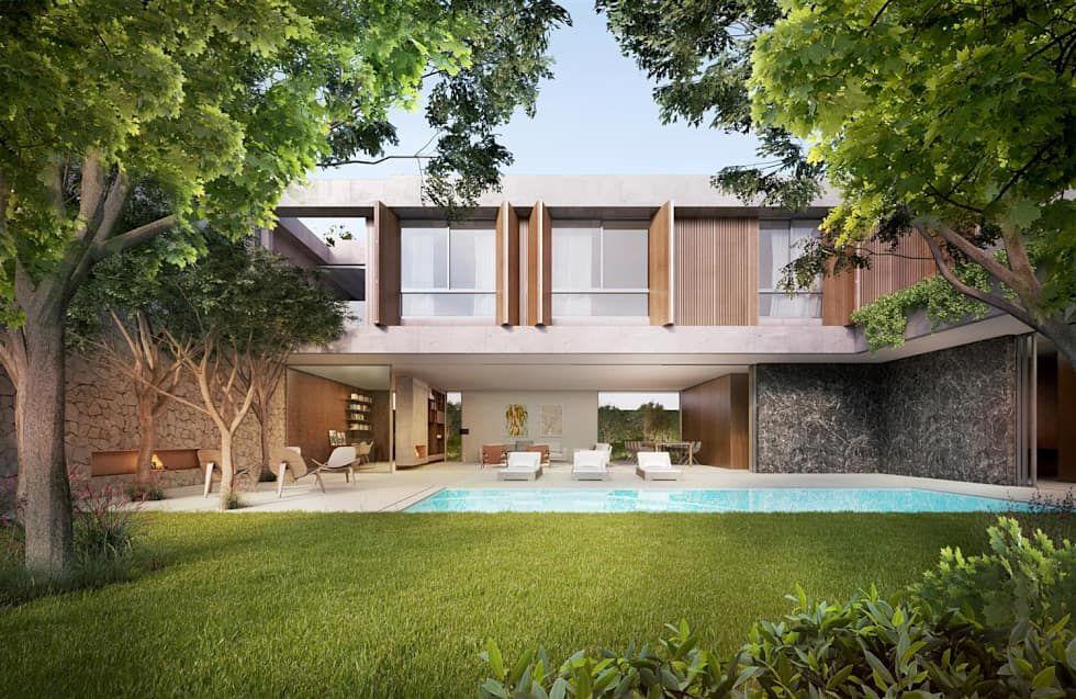 Casa H Jardim Casas minimalistas por Mader Arquitetos Associados - casas minimalistas