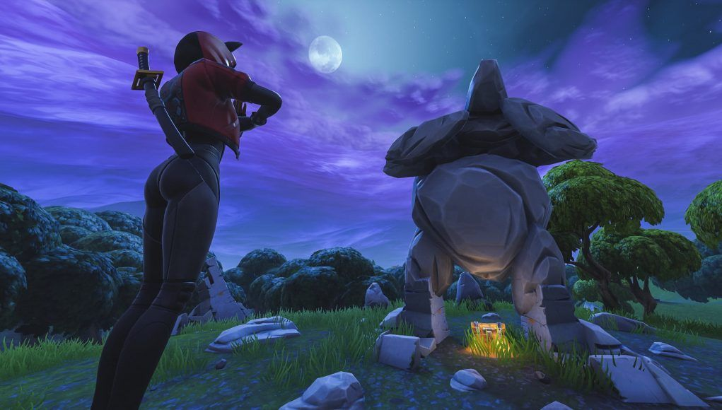 Where Is The Giant Rock Man Challenge In Fortnite Pin On Where Re We Landin Boys