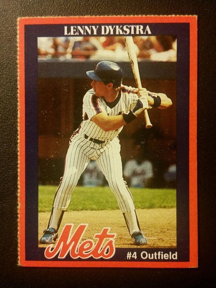 Lenny Dykstra Mets Baseball Card
