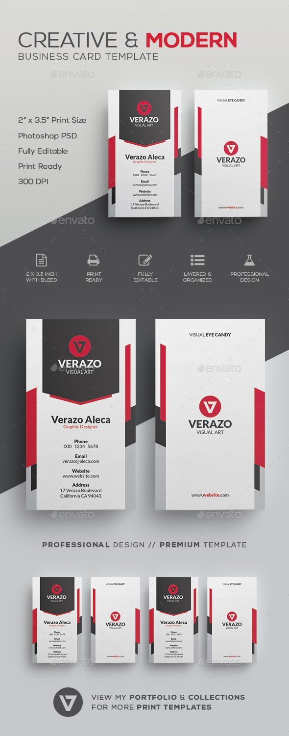 Creative Modern Business Card Template Card Templates - Buy business card template