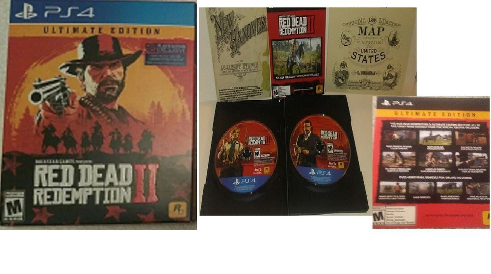 Red Dead Redemption Ii 2 Ps4 Ultimate Edition Without Steelbook All Dlcs Red Dead Redemption Ii Red Dead Redemption Redemption