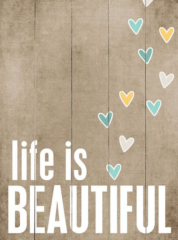 Life Is Beautiful\' Wall Art | Crafts for Home | Pinterest | Walls ...