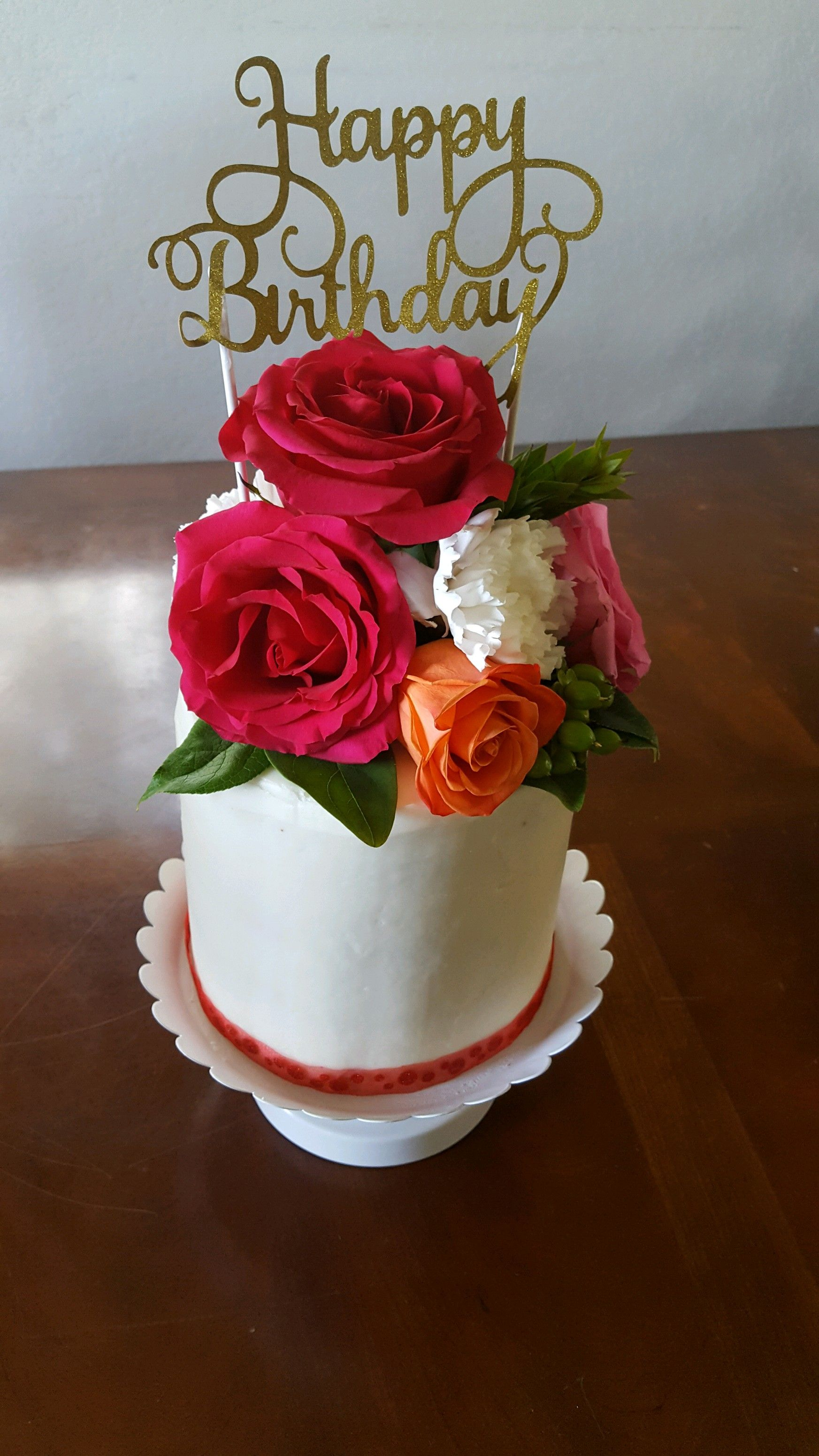 Red Velvet Birthday Cake With Cream Cheese Icing My Creations