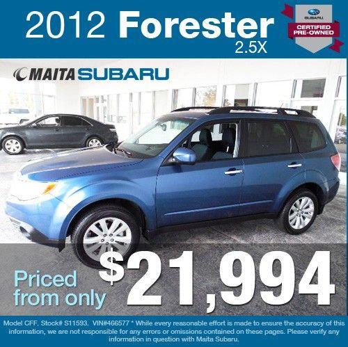 Subaru Certified Pre Owned 2 >> Pin By Maita Subaru On Maita Subaru Featured Inventory