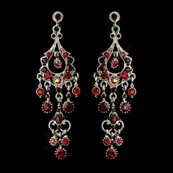 These dazzling antique silver red crystal chandelier earrings are these dazzling antique silver red crystal chandelier earrings are perfect for weddings proms homecomings aloadofball Choice Image