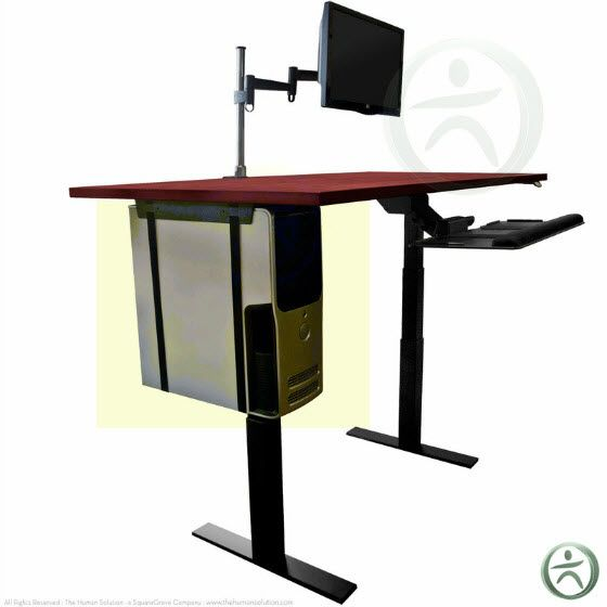 Reasons Your Desk Needs A CPU Holder Officefurniture Ergonomic - Computer stand for standing at desk