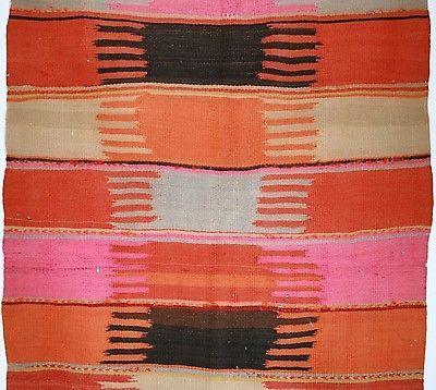 Antique Vintage Kilim Rug Carpet 3 x 5 Flatweave Morocco Handmade Pink | eBay