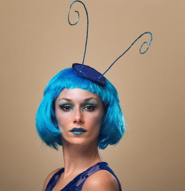 Ideen Faschingskostume Hund Zubehor Accessoires Damen Blau Insekt