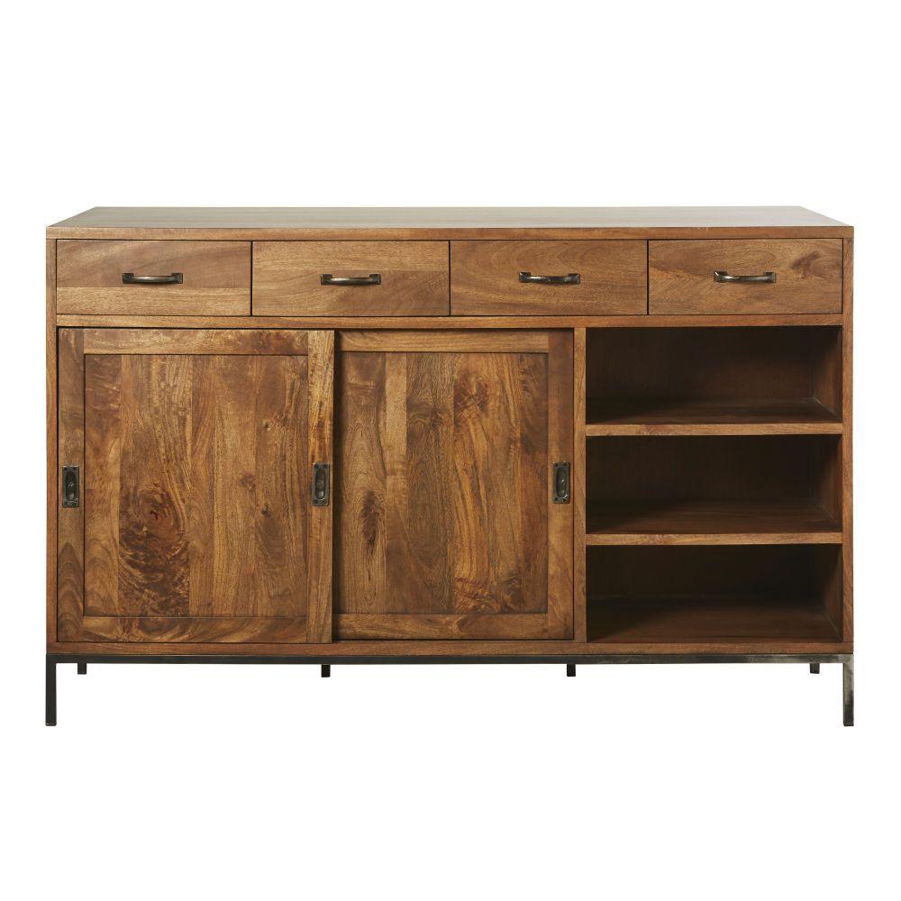 Anrichte Mit 2 Turen Aus Massivem Mangoholz Hipster Furniture