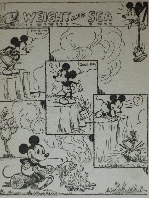 Original 1933 Mickey Mouse Comic Strip Matted by PrimrosePrints ...
