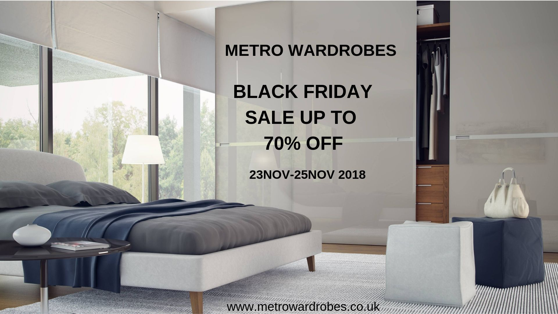 Metro Wardrobes is up with BLACK FRIDAY SALE 2018!!! Book