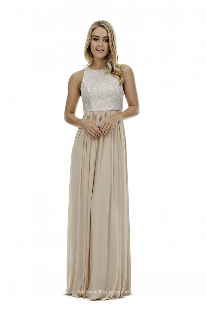 This unique floor length two tone bridesmaid dress is perfect for ...