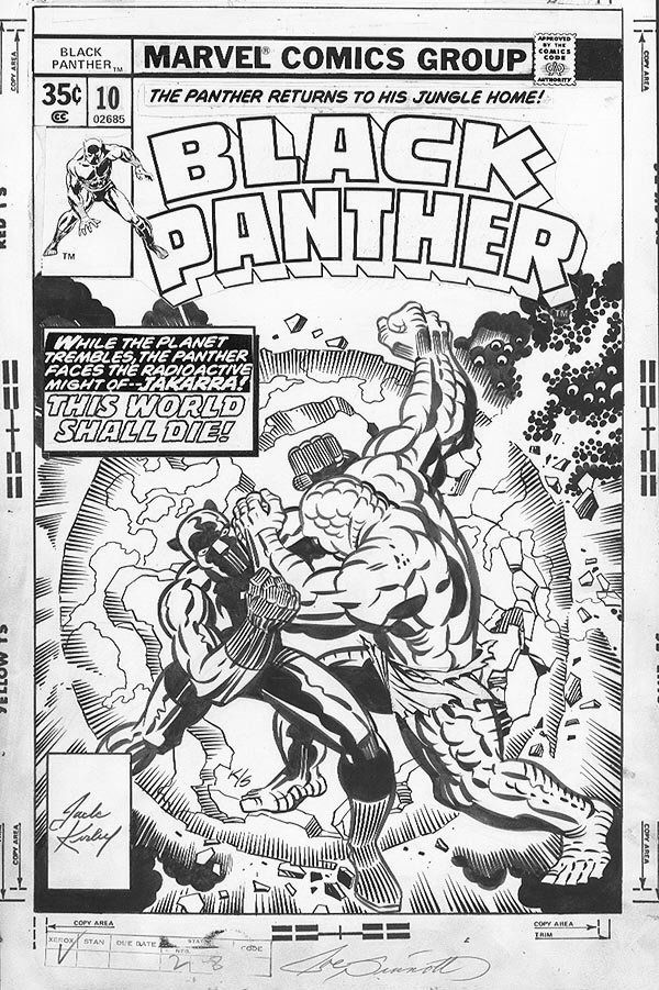 Jack Kirby pencils, Joe Sinnott inks