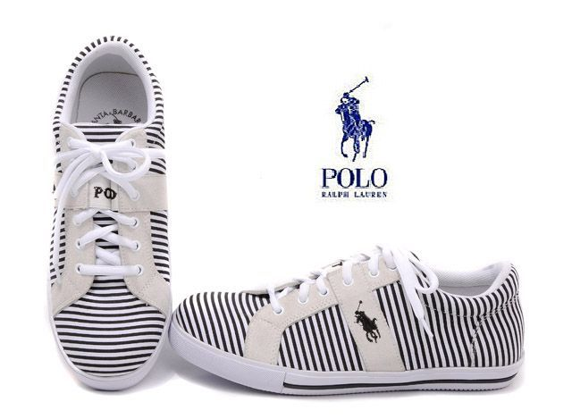Polo Ralph Lauren Striped Sneaker Black