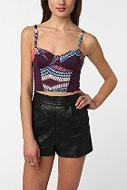 Silence & Noise Print Block Bustier  #UrbanOutfitters - Im addicted to these