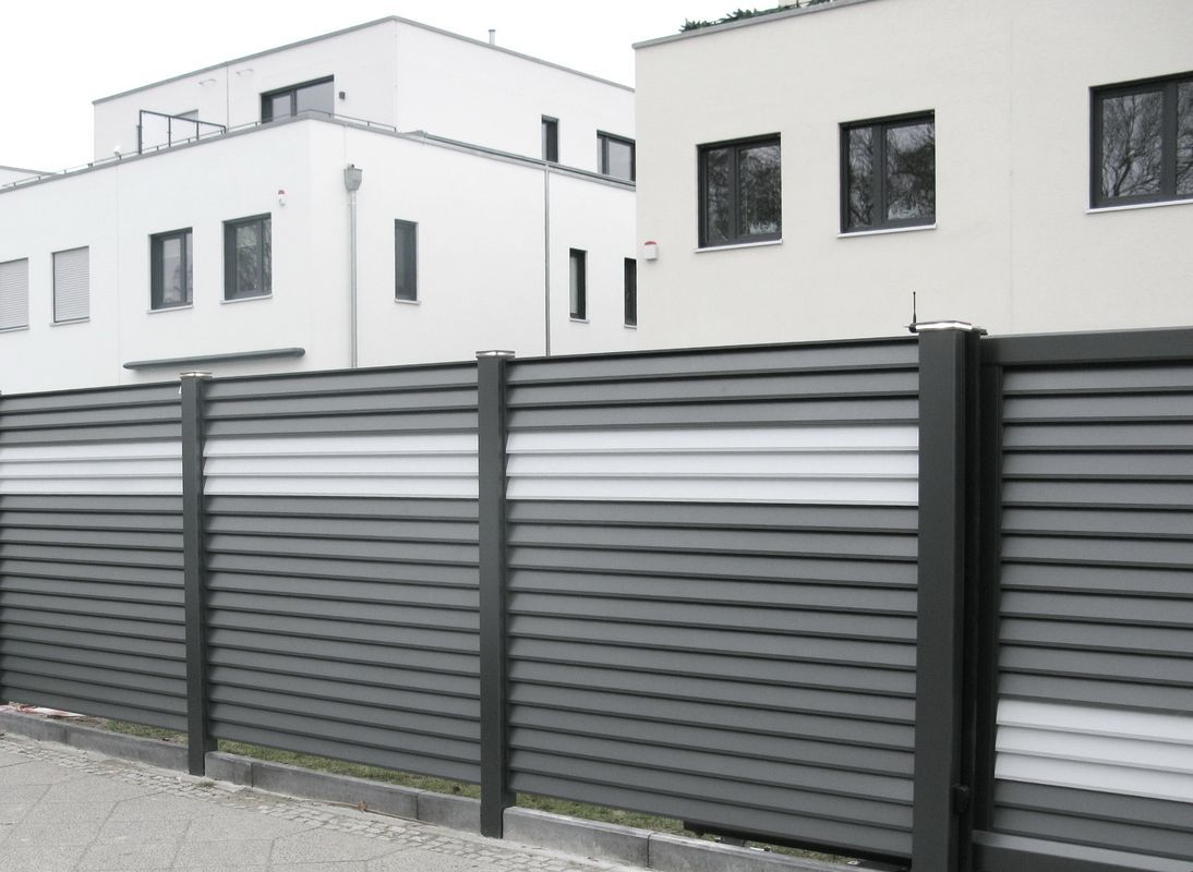 Brix Lamello Alu Zaun Tor Sicht Und Wind Schutz Brix Zaune