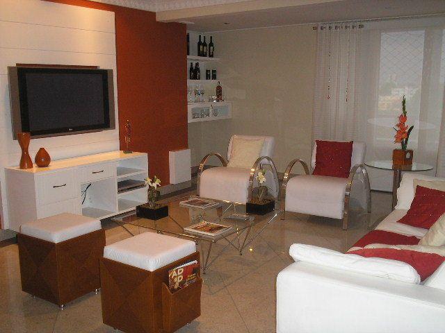 Dise o de sala en rojo y blanco decoraci n pinterest for Sala de estar rojo y blanco
