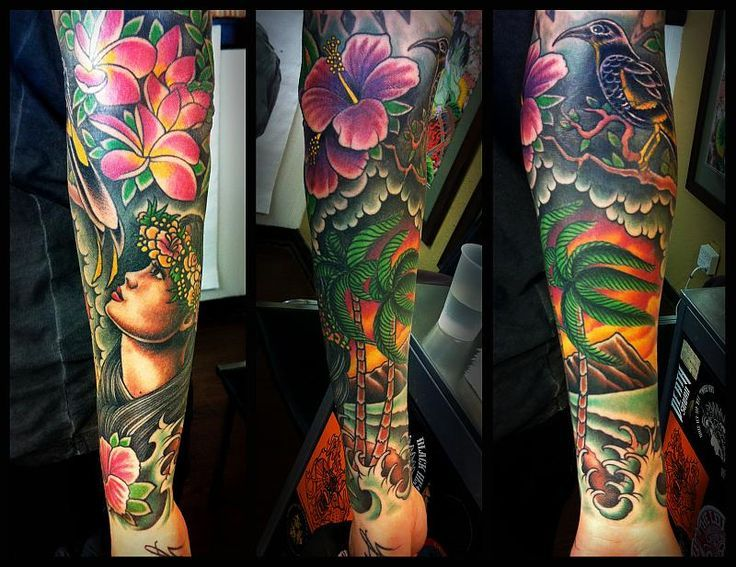 Pin By Melissa On Sweet Flower Tattoos Hawaiian Flower Tattoos Sleeve Tattoos