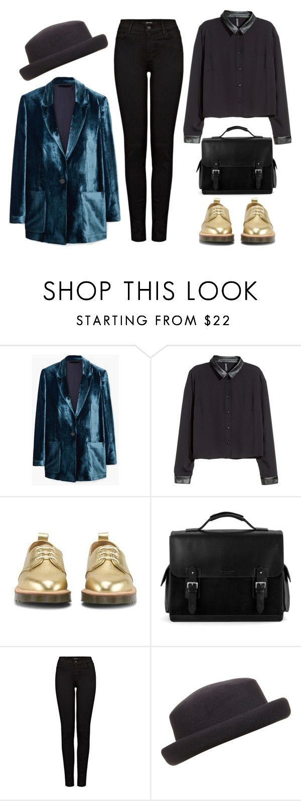 """nn"" by redruum on Polyvore featuring мода, MANGO, H&M, Dr. Martens, Aspinal of London и J Brand"