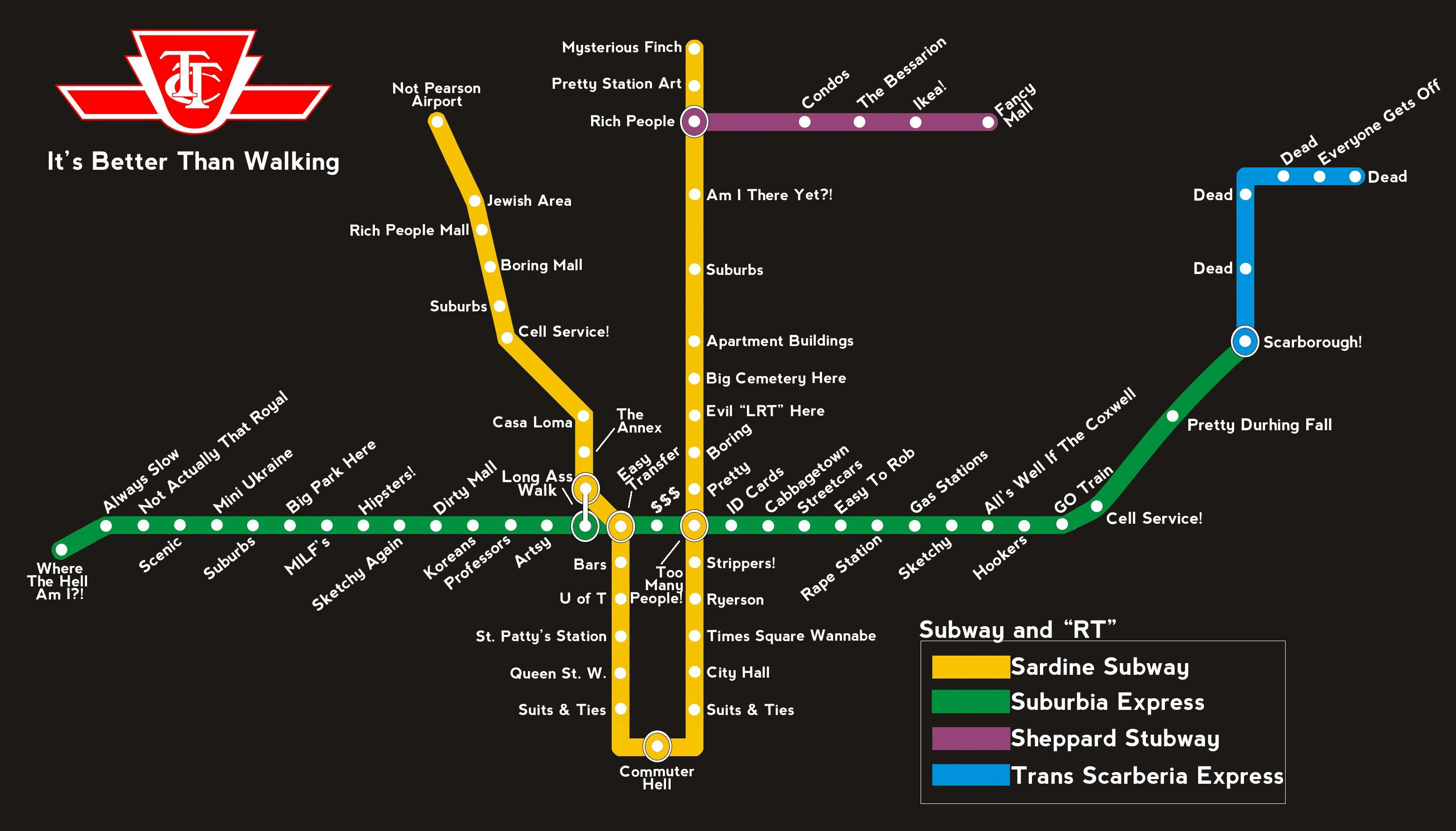 Subway Map Of Park Slope.How I See The Ttc Subway Map Places I D Like To Go Toronto