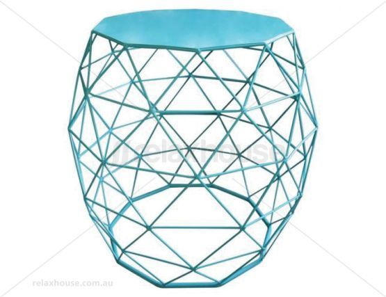 Wire Side Table Blue Urban