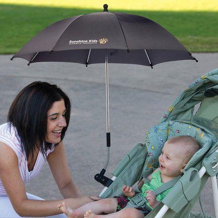 Ombrelle poussette universelle noire pour bébé anti-UV