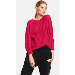 Photo of Knitted sweater with balloon sleeves Pink TaifunTaifun