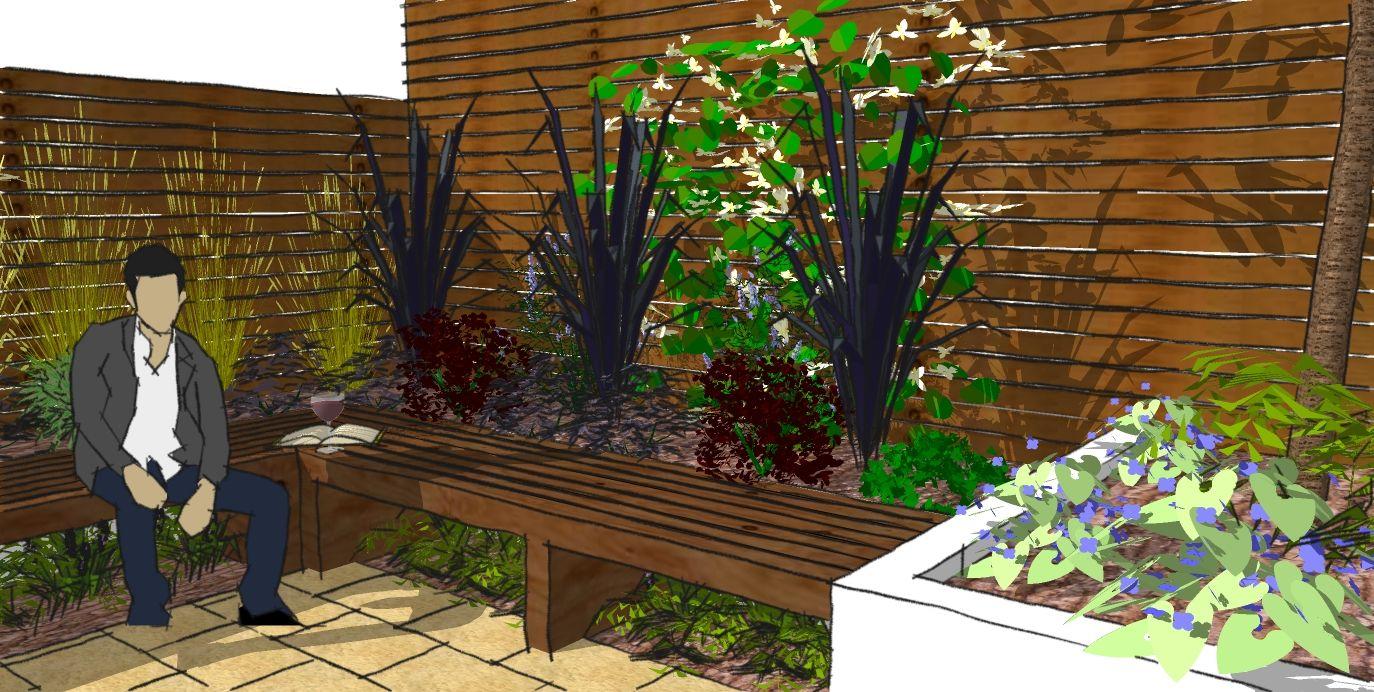 Garden Design Photos Gallery small garden design visual for london garden | contemporary urban