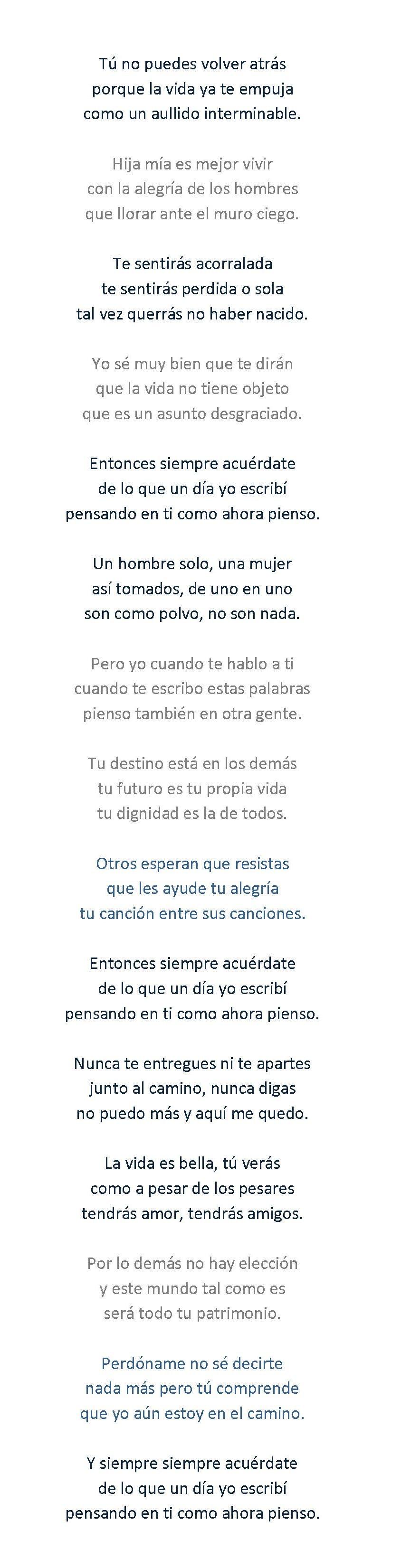 Canciones Estupendas 30 Palabras Para Julia Jose Agustin
