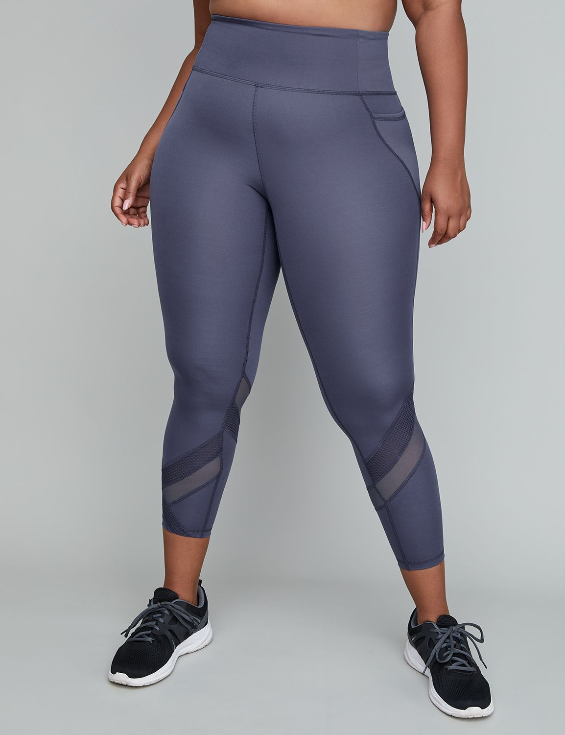 16c9afc31a0 Sculpting Active 7 8 Legging - Mixed Mesh Insets Lane Bryant