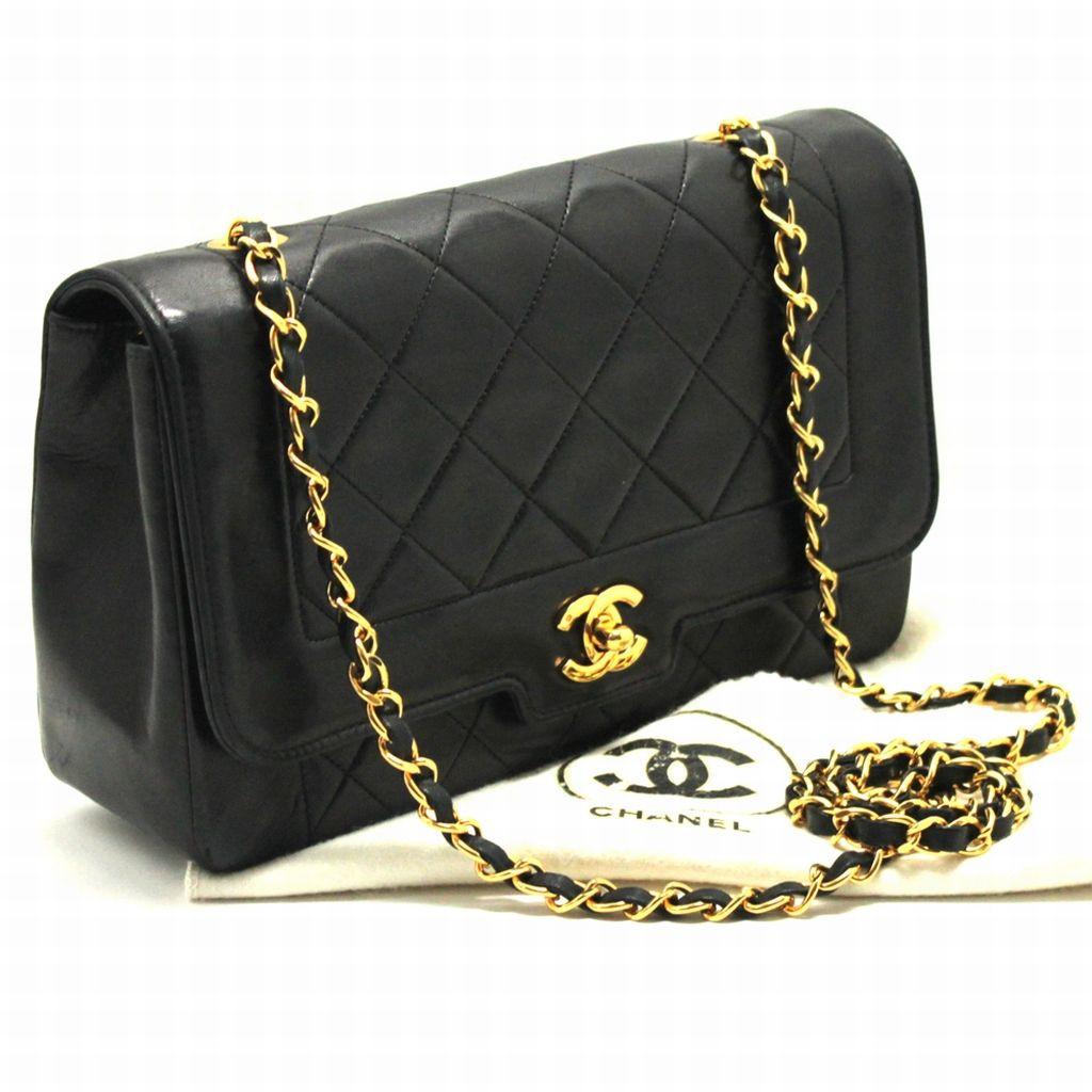Authentic Chanel Small Chain Shoulder Bag Crossbody Leather Black Flap Mini 258 Chanel Handbags Vintage Chanel Handbags Chanel