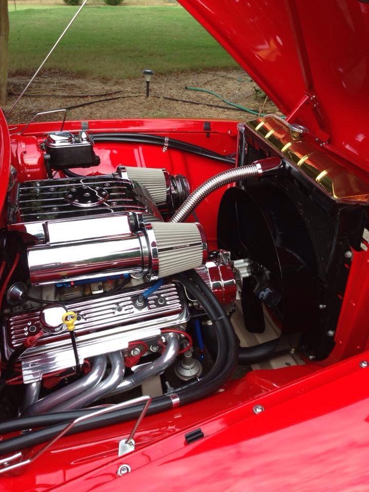 1956 Ford F100 Engine Bay Custom Trucks Engineering 1956 Ford F100