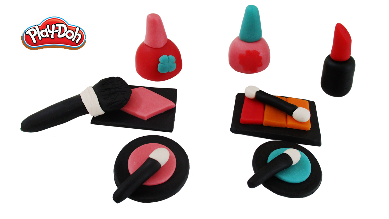 Learn how to make play doh makeup set for kids playdoh
