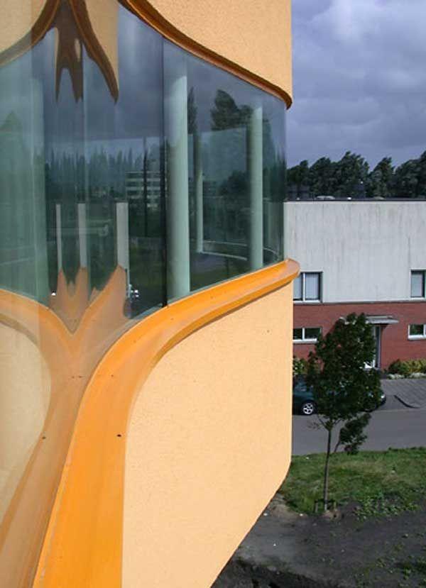 Architecture, Wall House Orange Storey Design Building Top Designers ...
