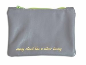 Image of 'Silver Lining' Leather Purse